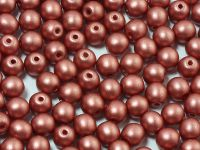 Round Beads Shine Satin Metallic Rust 4 mm - opakowanie