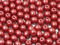 Round Beads Shine Satin Metallic Sangria 4 mm - opakowanie
