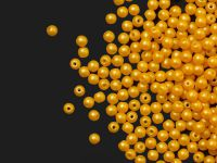Round Beads Powdery Yellow 3 mm - opakowanie