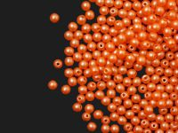 Round Beads Powdery Orange 3 mm - opakowanie