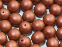 Round Beads Satin Metallic Bronze 10 mm - 6 sztuk