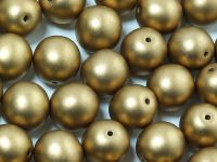 Round Beads Satin Metallic Olive Gold 10 mm - 6 sztuk