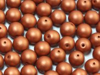 Round Beads Satin Metallic Bronze 8 mm - 10 sztuk