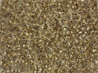 PRECIOSA Rocaille 9o-Gold-Lined Crystal - 50 g
