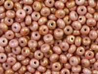 Rondelle Beads Luster - Metallic Pink 4x2.5mm - 5 g