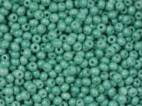 PRECIOSA Rocaille 6o-Chalk Lustered Turquoise Dyed - 50 g