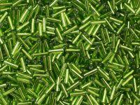 PRECIOSA Bugle 3-Silver-Lined Lime Green - 10 g