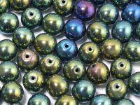 Round Beads Iris Green 8 mm - 10 sztuk