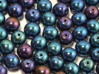 Round Beads Iris Blue 8 mm - 10 sztuk