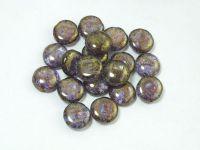 Candy 12mm Lt Sapphire - Bronze Picasso - 4 sztuki