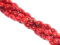 Koral czerwony ryż 8x5 mm - sznur 43 cm