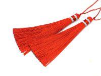 Chwost czerwony 100x10 mm - 1 sztuka