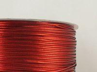 Sutasz chiński czerwony metalizowany 3mm - szpulka 50 m