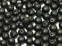 Round Beads Black Satin Pearl 4 mm - opakowanie