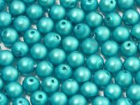 Round Beads Turquoise Satin Pearl 4 mm - opakowanie