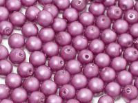 Round Beads Red Lilac Satin Pearl 4 mm - opakowanie