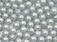 Round Beads Silver Satin Pearl 4 mm - opakowanie