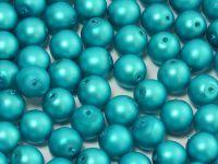 Round Beads Turquoise Satin Pearl 6 mm - 20 sztuk