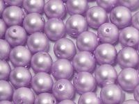Round Beads Lilac Satin Pearl 6 mm - 20 sztuk