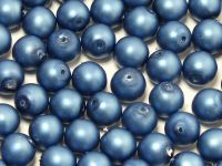 Round Beads Persian Blue Satin Pearl 6 mm - 20 sztuk