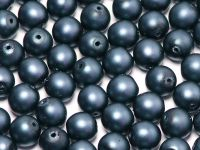 Round Beads Midnight Blue Satin Pearl 6 mm - 20 sztuk