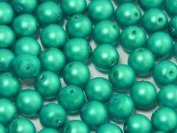 Round Beads Emerald Satin Pearl 6 mm - 20 sztuk