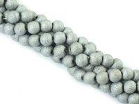 Szklane kulki srebrne gwiezdny pył 6 mm - sznur
