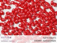 SuperDuo 2.5x5mm Tutti Frutti Cherry - 10 g