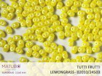 SuperDuo 2.5x5mm Tutti Frutti Lemongrass - 10 g