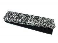 Pudełko esy-floresy na bransoletkę czarne