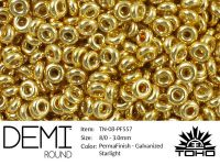 TOHO Demi Round 8o-PF557 Permanent Finish - Galvanized Starlight - 5 g