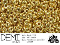 TOHO Demi Round 8o-PF557 Permanent Finish - Galvanized Starlight - 5 g