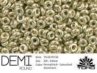 TOHO Demi Round 8o-PF558 Permanent Finish - Galvanized Aluminium - 5 g