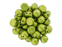 CzechMates Cabochon ColorTrends - Saturated Metallic Lime Punch 7mm - 10 sztuk