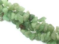 Awenturyn zielony sieczka 5-12 mm - długi sznur 80 cm