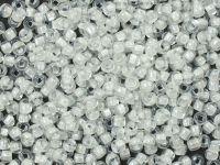 PRECIOSA Rocaille 10o-White-Lined Crystal - 50 g