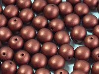 Round Beads Matte Metallic Dark Copper 8 mm - 10 sztuk