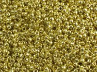 TOHO Round 11o-PF590 Permanent Finish - Galvanized Lemon Gold - 10 g