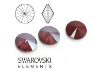 Rivoli Swarovski 12 mm Crystal Dark Red - 1 sztuka