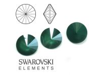 Rivoli Swarovski 12 mm Crystal Royal Green - 1 sztuka