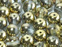 Round Beads Gold 1/2 10 mm - 6 sztuk