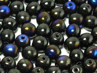 Round Beads Jet Azuro 6 mm - 20 sztuk