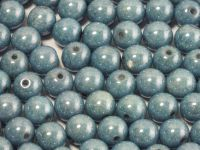 Round Beads Luster - Metallic Blue 6 mm - 20 sztuk