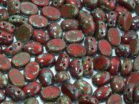 Samos par Puca Opaque Coral Red Picasso - 5 g