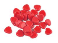 TC Hearts Opaque Red - Matted 10 mm - 2 sztuki