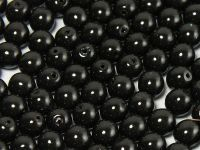 Round Beads Coated Black Pearl 6 mm - 20 sztuk