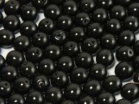 Round Beads Coated Black Pearl 6 mm - 20 sztuk