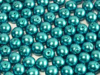 Round Beads Coated Turquoise Pearl 6 mm - 20 sztuk