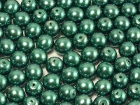 Round Beads Coated Emerald Pearl 6 mm - 20 sztuk