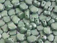 Ginko 7.5x7.5mm Luster - Metallic Green - 10 sztuk